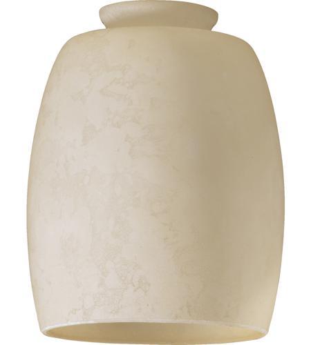 Quorum 2943e Signature Cream Mottled Scavo 4 Inch Glass Shade