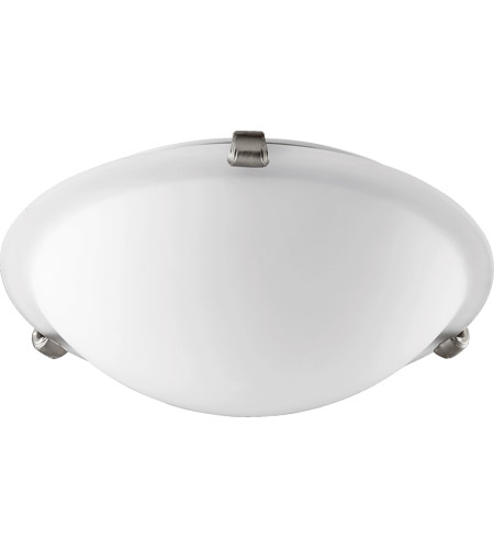 Quorum 3000-12165 Signature 2 Light 12 inch Satin Nickel Ceiling Mount Ceiling Light in Satin Opal photo thumbnail