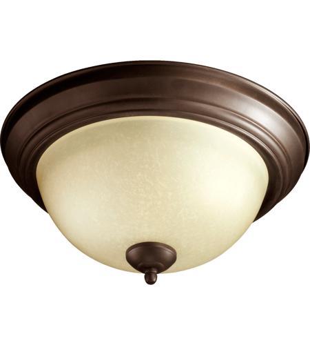 Quorum 3073 13 86 Signature 2 Light 14 Inch Oiled Bronze Flush Mount Ceiling