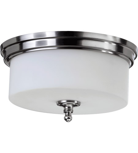 Quorum 3090-14-65 Rockwood 3 Light 14 inch Satin Nickel Flush Mount ...