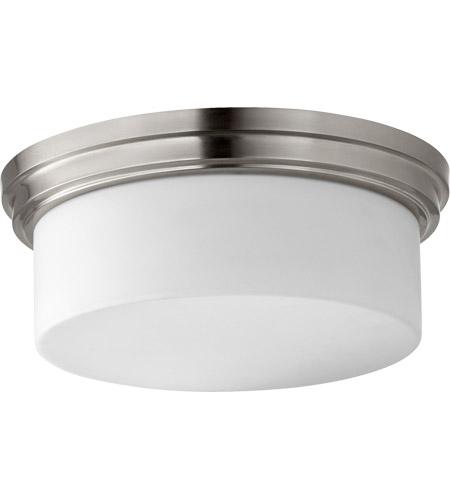 Quorum 3091 14 65 Rockwood Inch Satin Nickel Flush Mount Ceiling Light Opal