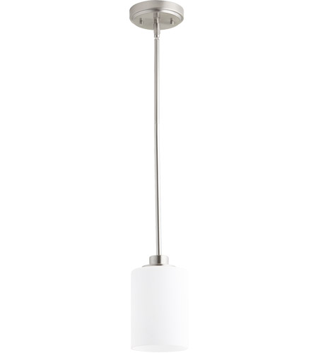 Quorum 3207 65 Lancaster 1 Light 5 Inch Satin Nickel Pendant Ceiling Photo