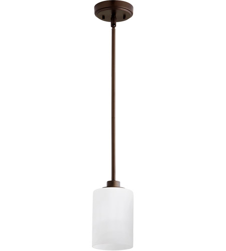 Quorum 3207 86 Lancaster 1 Light 5 Inch Oiled Bronze Pendant Ceiling Photo
