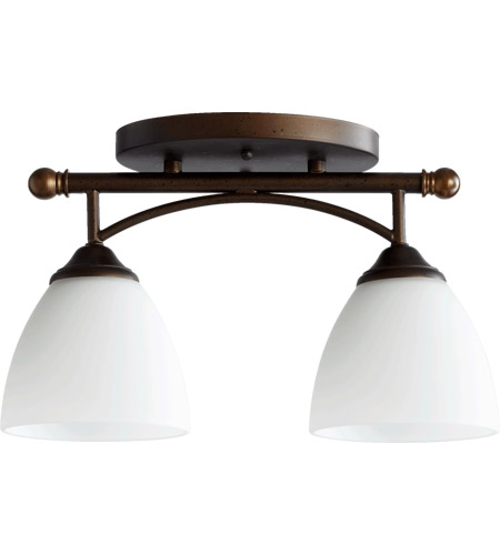 Quorum 3250 2 86 brooks 2 light 6 inch oiled bronze flush mount quorum 3250 2 86 brooks 2 light 6 inch oiled bronze flush mount ceiling aloadofball Images
