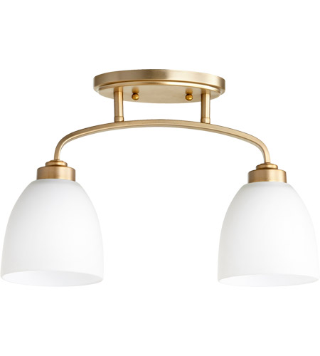 Quorum 3260-2-80 Reyes 2 Light Aged Brass Rail Light Ceiling Light photo thumbnail