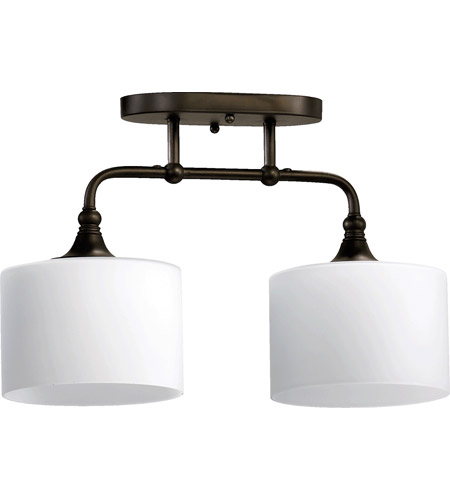 Quorum 3290-2-86 Rockwood 2 Light 7 inch Oiled Bronze Flush Mount Ceiling Light photo
