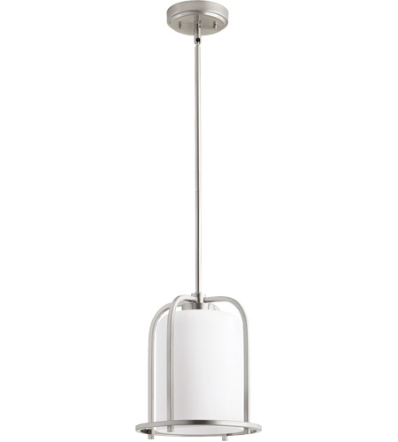 Quorum 3307 65 Lancaster 1 Light 10 Inch Satin Nickel Pendant Ceiling Photo