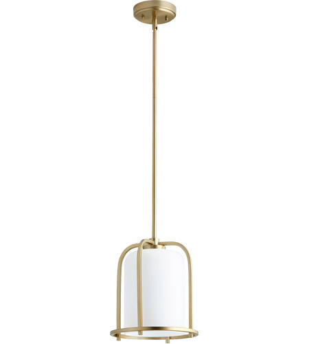 Quorum 3307 80 Lancaster 1 Light 10 Inch Aged Brass Pendant Ceiling Photo