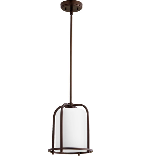 Quorum 3307 86 Lancaster 1 Light 10 Inch Oiled Bronze Pendant Ceiling Photo