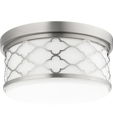 Quorum 343-14-65 Signature 3 Light 14 inch Satin Nickel Flush Mount Ceiling Light photo