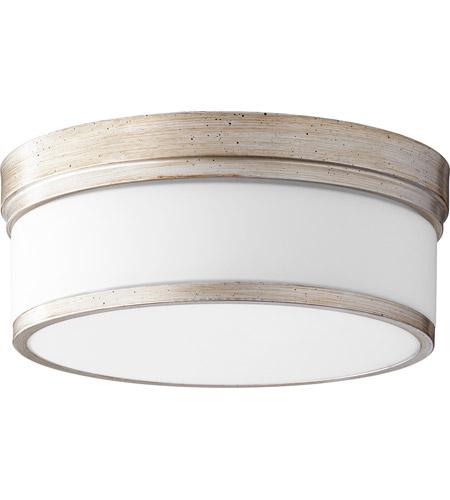 Quorum 3509 14 60 Celeste Inch Aged Silver Leaf Flush Mount Ceiling Light