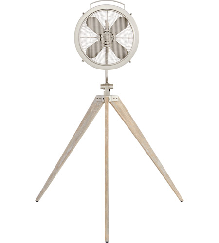 Mariana Satin Nickel 68 inch Pedestal Fan