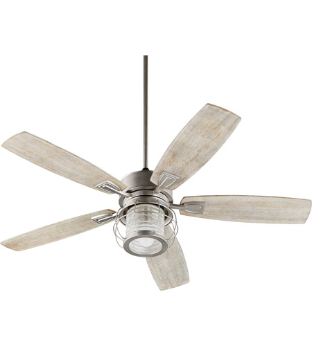 Quorum 3525-65 Galveston 52 inch Satin Nickel with Weathered Oak ...