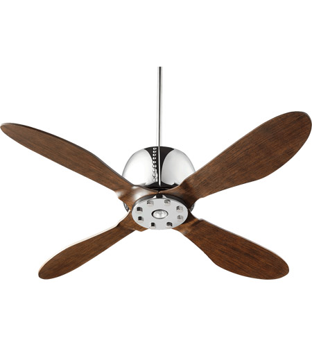 Quorum 36524 14 elica 52 inch chrome with walnut blades ceiling fan aloadofball Images