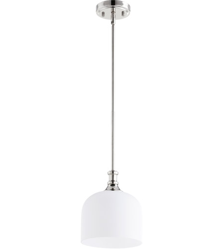 Quorum 3911-62 Richmond 1 Light 8 inch Polished Nickel Pendant Ceiling Light photo thumbnail