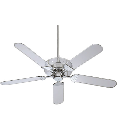 quorum ceiling fans. Quorum 400525-14 Prizzm 52 Inch Chrome With Clear Acrylic Trim Blades Ceiling Fan Fans
