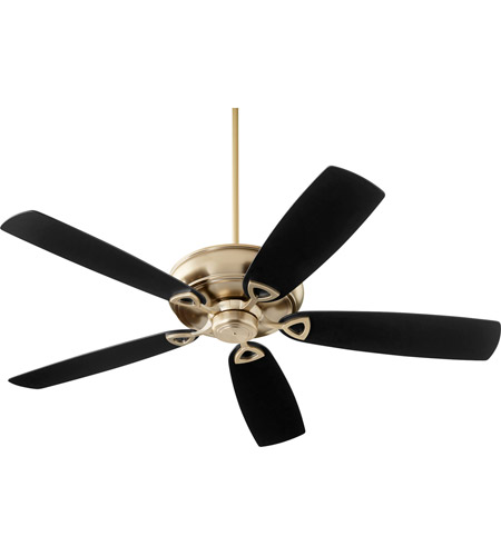 Quorum 40625-80 Alto 62 inch Aged Brass with Reversible Matte Black and Walnut Blades Ceiling Fan photo