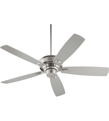 Quorum 42605-65 Alton 60 inch Satin Nickel with Satin Nickel and Walnut Blades Indoor Ceiling Fan photo
