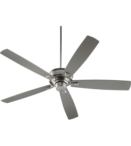 Quorum 42705-65 Alton 70 inch Satin Nickel with Reversible Satin Nickel and Walnut Blades Indoor Ceiling Fan photo thumbnail