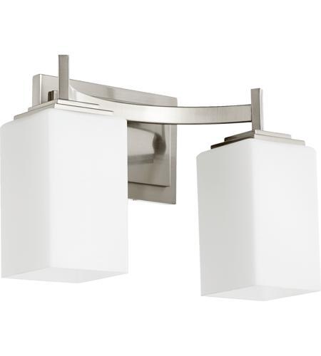 Galaxy Lighting Delta 3 Light Bathroom Vanity: Quorum International Delta 2 Light Vanity Light In Satin Nickel 5084-2-65
