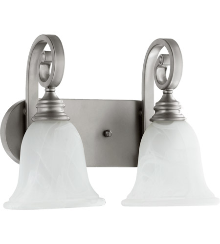 Quorum Classic Nickel Bathroom Vanity Lights