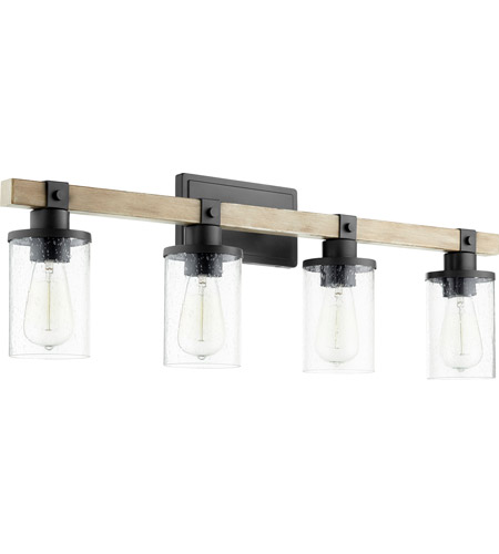 Quorum 5189-4-69 Alpine 4 Light 33 inch Noir with Driftwood Vanity Light Wall Light photo