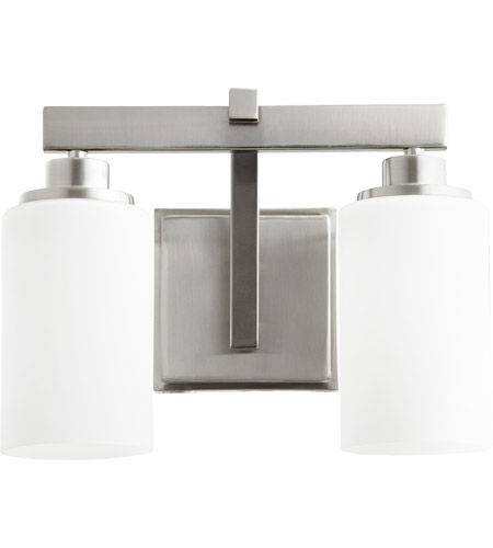 Quorum Bathroom Lighting quorum 5207-2-65 lancaster 2 light 13 inch satin nickel vanity