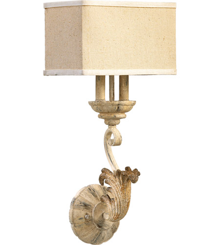 Quorum 5237-2-70 Florence 2 Light 11 inch Persian White Wall Sconce Wall Light photo