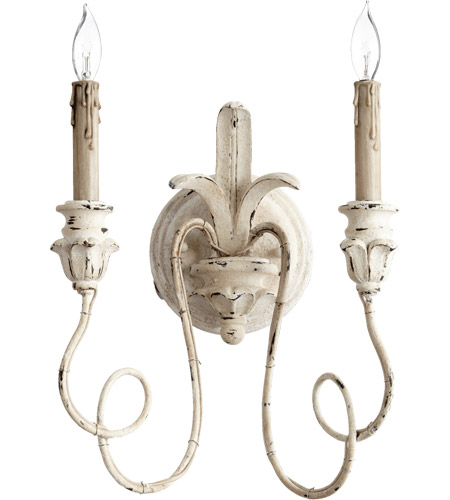 Quorum 5306-2-70 Salento 2 Light 12 inch Persian White Wall Sconce - a beautiful French sconce for your French inspired home!