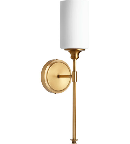 Quorum 5309 1 80 celeste 5 inch aged brass wall mount wall light in quorum 5309 1 80 celeste 5 inch aged brass wall mount wall light in 1 satin opal aloadofball Choice Image