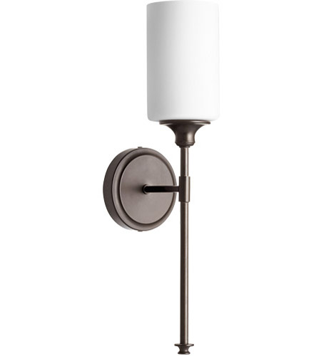 Quorum 5309 1 86 celeste 5 inch oiled bronze wall mount wall light quorum 5309 1 86 celeste 5 inch oiled bronze wall mount wall light in 1 satin opal mozeypictures Gallery