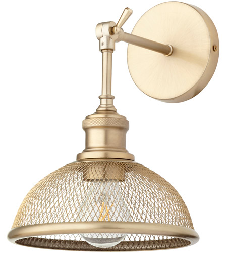 Quorum 5312-80 Omni 11 inch 100 watt Aged Brass Swing Arm Wall Sconce Wall Light, Small photo