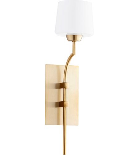 Quorum Aged Brass Wall Sconces