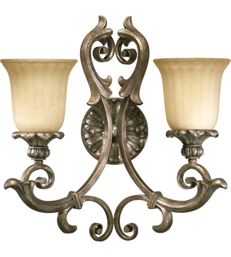 Quorum Wall Sconces : Quorum 5400-2-58 Barcelona 2 Light 17 inch Mystic Silver Wall Sconce Wall Light
