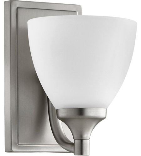 Quorum 5459 1 65 Enclave Light 6 Inch Satin Nickel Wall Sconce