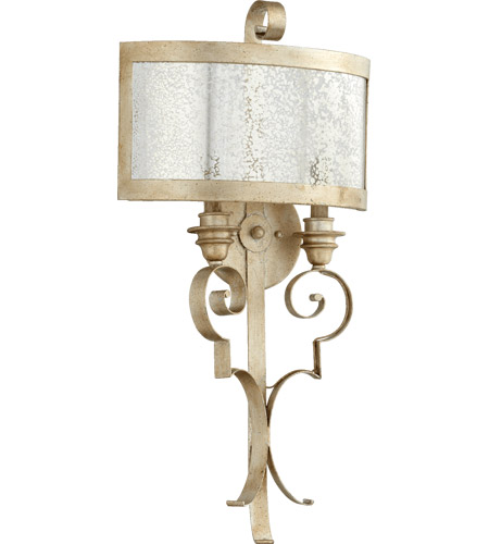Aged Silver Wall Sconces