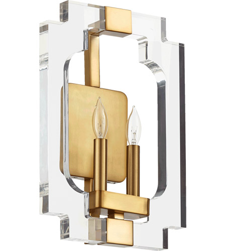Quorum 555-2-80 Broadway 2 Light 11 inch Aged Brass Wall Sconce Wall Light  sc 1 st  Quorum Lighting Lights & Quorum 555-2-80 Broadway 2 Light 11 inch Aged Brass Wall Sconce Wall ...