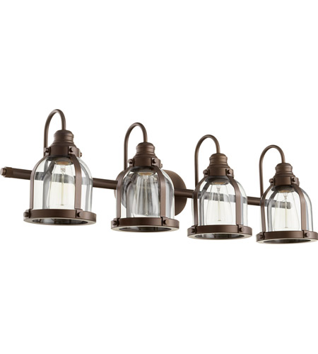 Quorum 586-4-86 Signature 4 Light 33 inch Oiled Bronze Vanity Light Wall Light photo