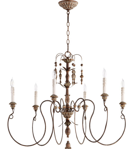 Quorum 6006-6-39 Salento 6 Light 32 inch Vintage Copper Chandelier Ceiling Light  photo