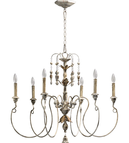 Quorum 6006 6 70 Nto Light 32 Inch Persian White Chandelier Ceiling
