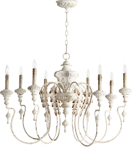 Nto 8 Light 38 Inch Persian White Chandelier Ceiling