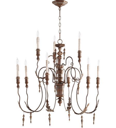 Quorum 6006 9 39 Nto Light 32 Inch Vintage Copper Chandelier Ceiling