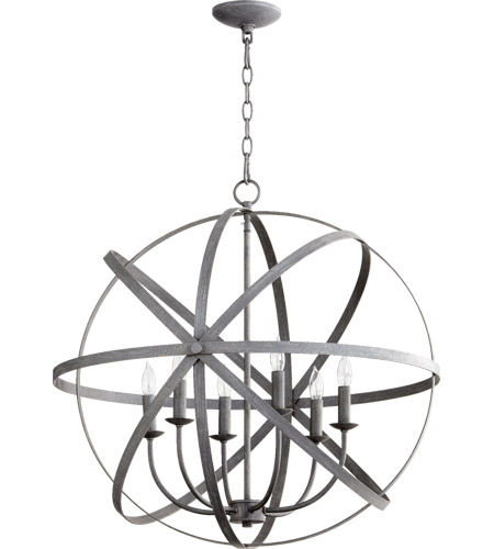 Quorum 6009 6 17 Celeste Light 26 Inch Zinc Chandelier Ceiling