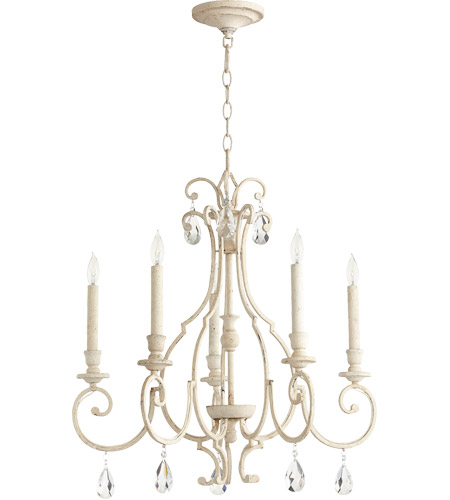 Quorum 6014-5-70 Ansley 5 Light 24 inch Persian White Chandelier Ceiling Light  photo