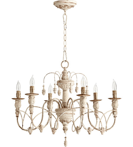 Quorum 6016-6-70 Salento 6 Light 25 inch Persian White Chandelier Ceiling Light photo