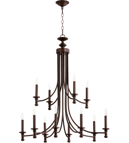 Quorum 6022-12-86 Rossington 12 Light 32 inch Oiled Bronze Chandelier Ceiling Light photo thumbnail