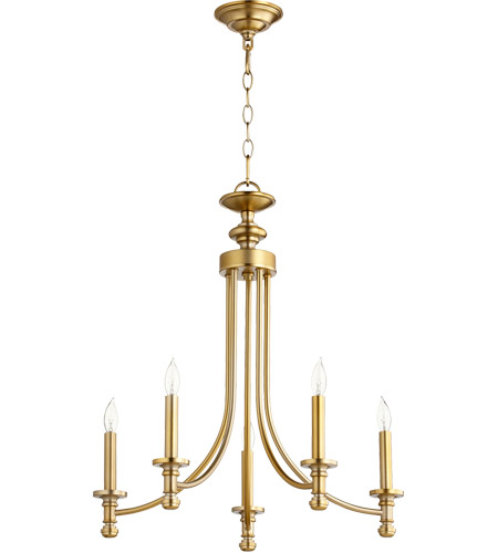 online retailer 0df2f 91a7c Rossington 5 Light 22 inch Aged Brass Chandelier Ceiling Light