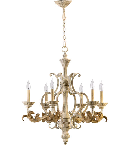quorum international florence 6 light chandelier in