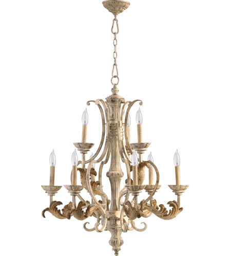 Quorum 6037-9-70 Florence 9 Light 28 inch Persian White Chandelier Ceiling Light photo