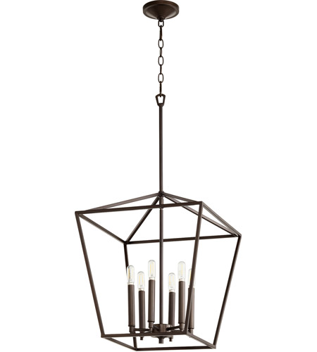 Quorum Oiled Bronze Gabriel Foyer Pendants